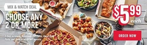 California Pizza Food Delivery Order Dominos Now